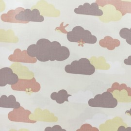 Coated cotton fabric - raw Cloud x 10cm