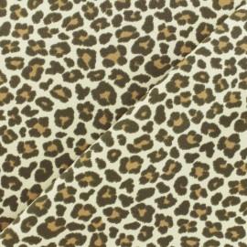 Tissu coton jersey Stenzo Mini Leopard - beige x 10cm