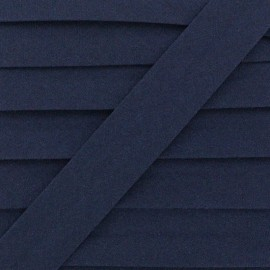 20 mm Organic Bias Binding - Navy Blue x 1m