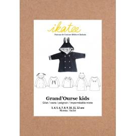 Patron Ikatee Grand'Ourse Gilet - de 3 à 12 ans