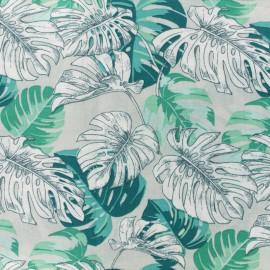 Tissu coton cretonne Hawai - gris clair x 10cm