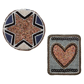 Star of Hearts Iron-On Patch - Cooper