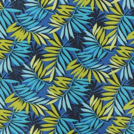 Tissu coton cretonne Sao Paulo - bleu x 10cm