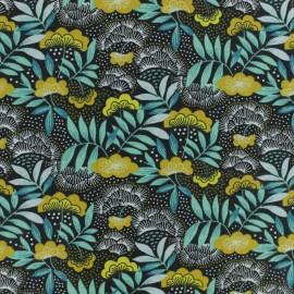 Tissu coton cretonne Nagoya - jaune x 10cm