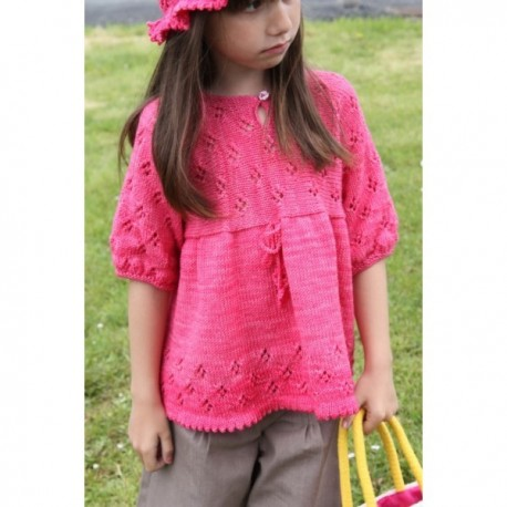 """Tunic """"Mei"""" in sizes 2/4/6/8/10 et 12 years old, from Kids Tricots - multicolored"""