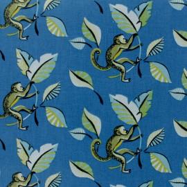 Cretonne cotton fabric - blue Marmoset x 10cm