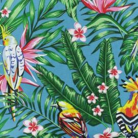 Tissu grande largeur Toile de coton Palawan - bleu x 40cm