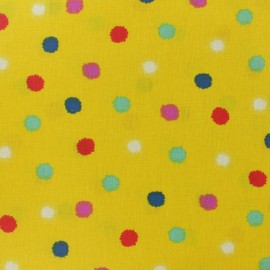 Coated cretonne cotton fabric - curry yellow Kota x 10cm