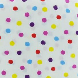 Tissu coton cretonne enduit Mini Pompon - écru x 10cm