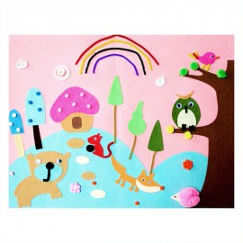 3D Felt Picture Kit - Enchanted Forest