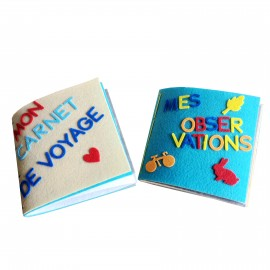 Kit Feutrine 10 Carnets de Voyage (750 pièces)