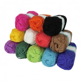 Punch Needle Yarn (12 balls) - Bright
