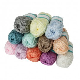 Punch Needle Yarn (12 balls) - Pastel