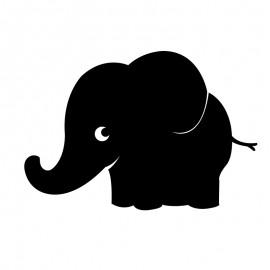 Autocollant Ardoise Mural - Elephant