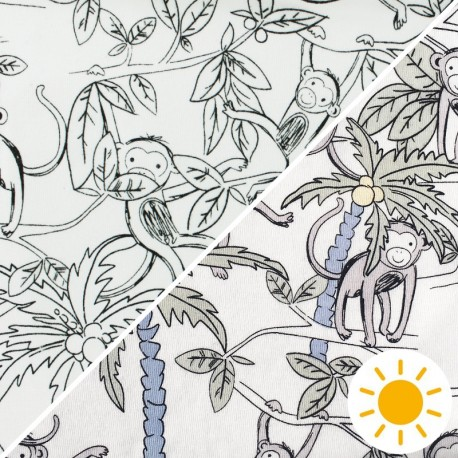 Color Changing jersey fabric - Blue Magic Dandelion x 10cm