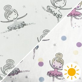 Tissu Jersey Photosensible Ballerina - rose x 10cm