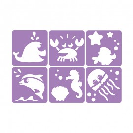 6 Stencils Pack 14 x 14 cm - Sea Animals