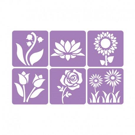6 Stencils Pack 14 x 14 cm - My Garden