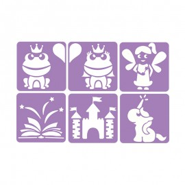 6 Stencils Pack 14 x 14 cm - Once upon a time...