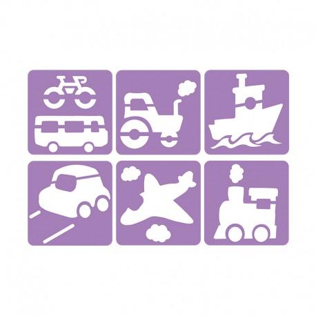 6 Stencils Pack 14 x 14 cm - Transport
