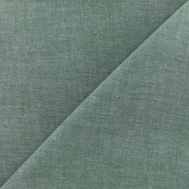 Chambray cotton Fabric - Pine green x 10cm
