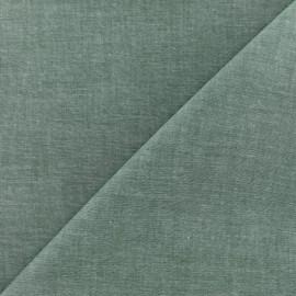 Tissu Chambray - vert sapin x 10cm