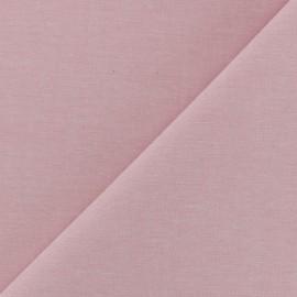Tissu Chambray - rose dragée x 10cm