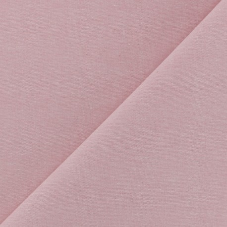 Chambray cotton Fabric - Baby Pink x 10cm