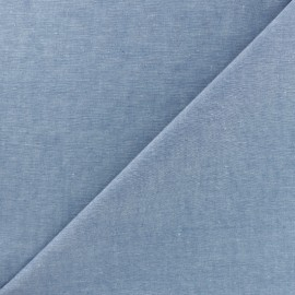 Chambray cotton Fabric - Blue x 10cm