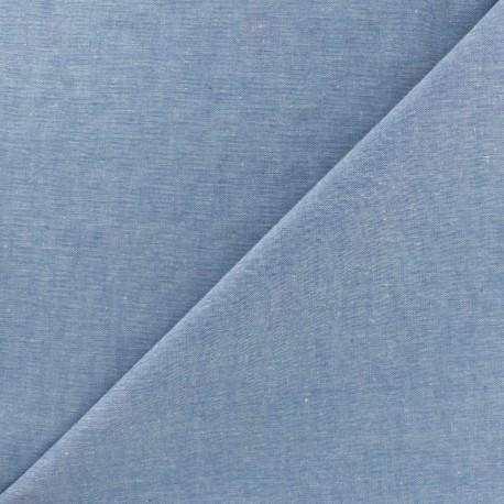 Chambray cotton Fabric - Blue x 10cm