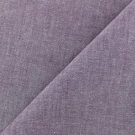 Tissu Chambray - violet x 10cm