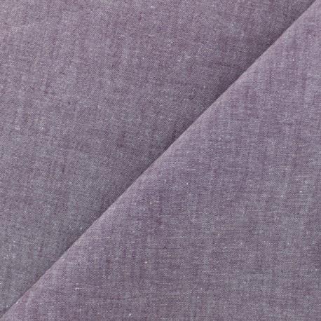 Chambray cotton Fabric - Purple x 10cm
