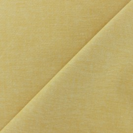 Chambray cotton Fabric - mustard x 10cm