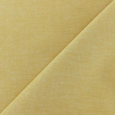 Tissu Chambray - miel x 10cm