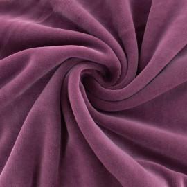 Tissu velours jersey mat Bettina - bleu paon x10cm