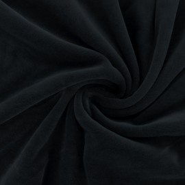 Matte jersey velvet fabric - black Bettina x10cm