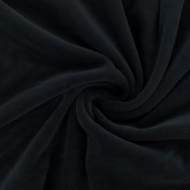 Tissu velours jersey mat Bettina - noir x10cm