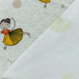 Tissu sweat envers minkee Hinata - écru x 10cm