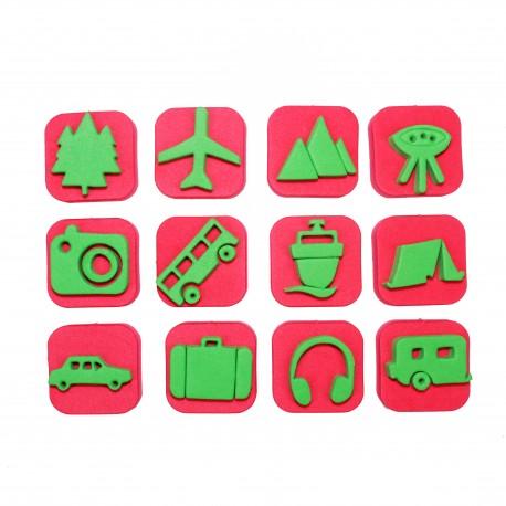Foam Children Stamp (Pack or 12) - Adventure