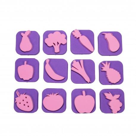 Foam Children Stamp (Pack or 12) - Market