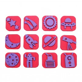 Foam Children Stamp (Pack or 12) - Space