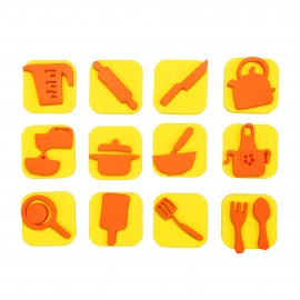 Foam Children Stamp (Pack or 12) - Kitchen