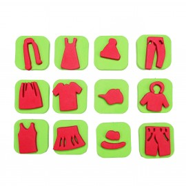 Foam Children Stamp (Pack or 12) - Wardrobe
