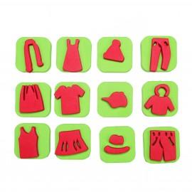 Foam Children Stamp (Pack or 12) - Wardrobe