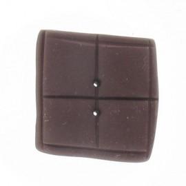 Fimo button, chocolate bar - brown