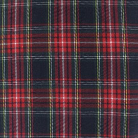 Scottish tartan fabric - Navy Howard x 10cm
