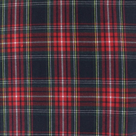 Scottish tartan fabric - Navy Howard x 10cm