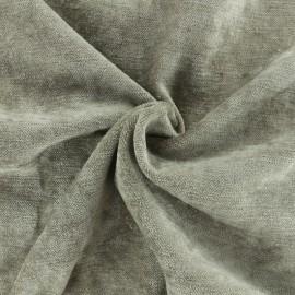 Tissu velours ras Luxe Delhi - taupe x 10cm
