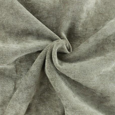 Luxury Velvet fabric - Taupe Grey Delhi x 10cm
