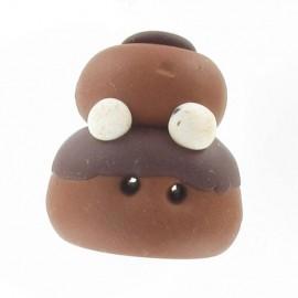 Bouton fimo Religieuse chocolat
